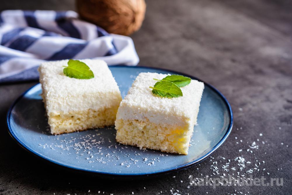 Пирожные с кокосом