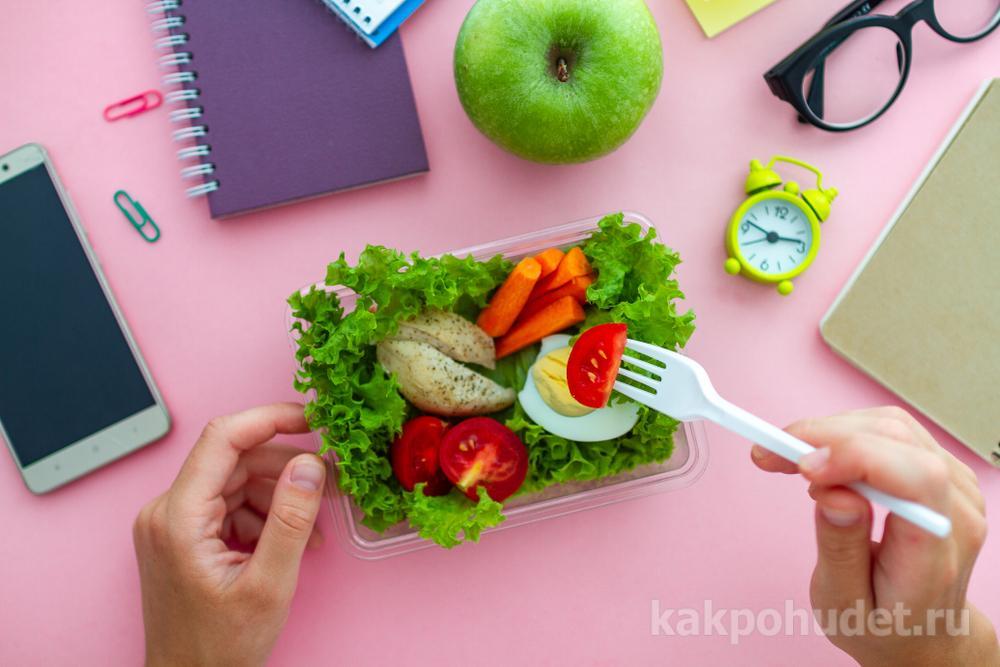 паузы во время приема пищи