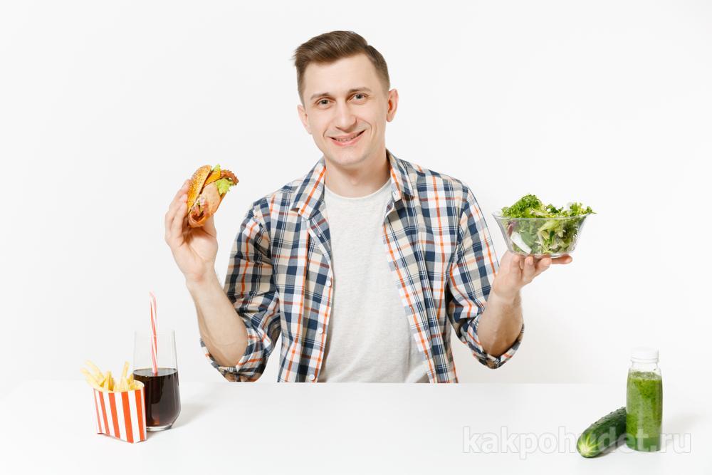Коррекция питания для мужчин