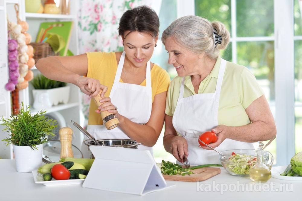 Меню для пожилых людей