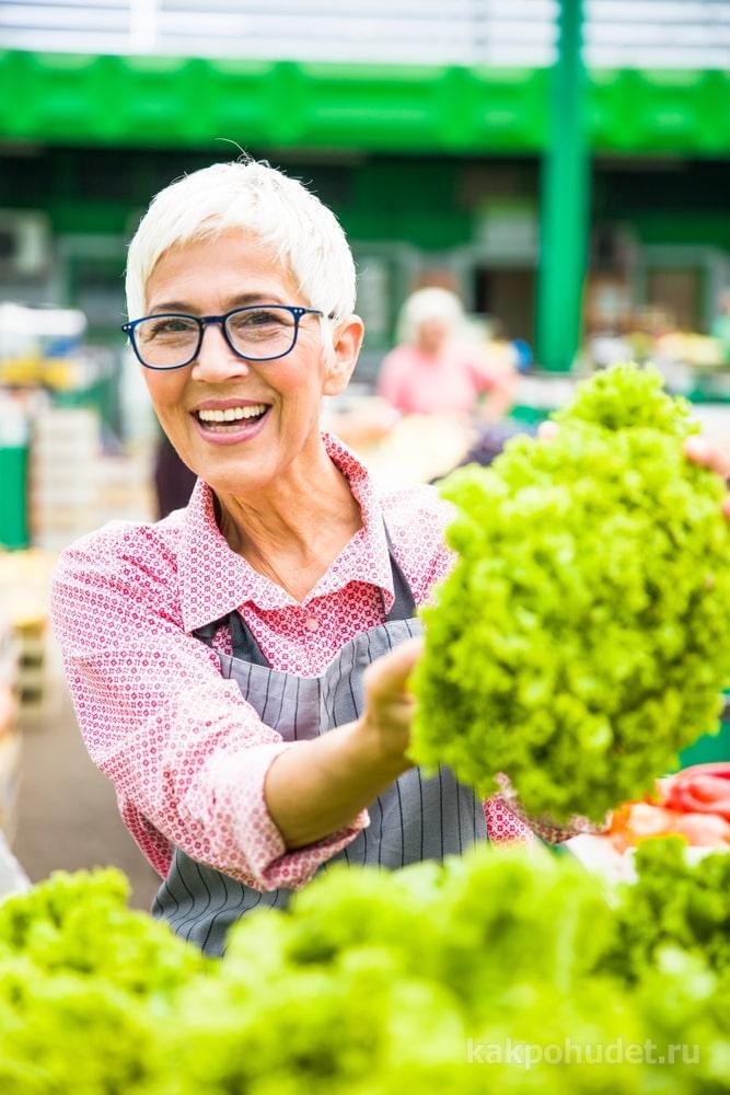 Рекомендованные продукты в меню пожилых людей