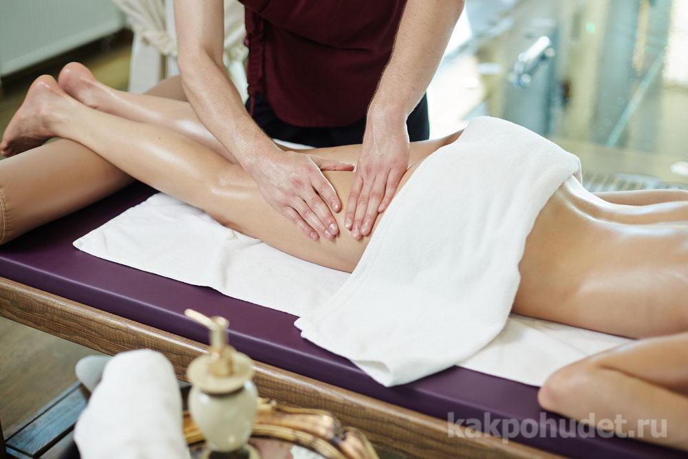 Ручной массаж с добавлением антицеллюлитных средств