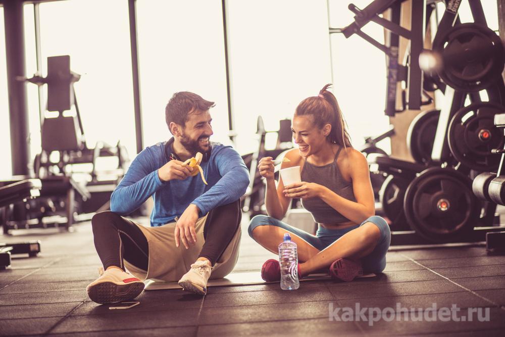 Многие набирают лишний вес, обильно питаясь после тренировок