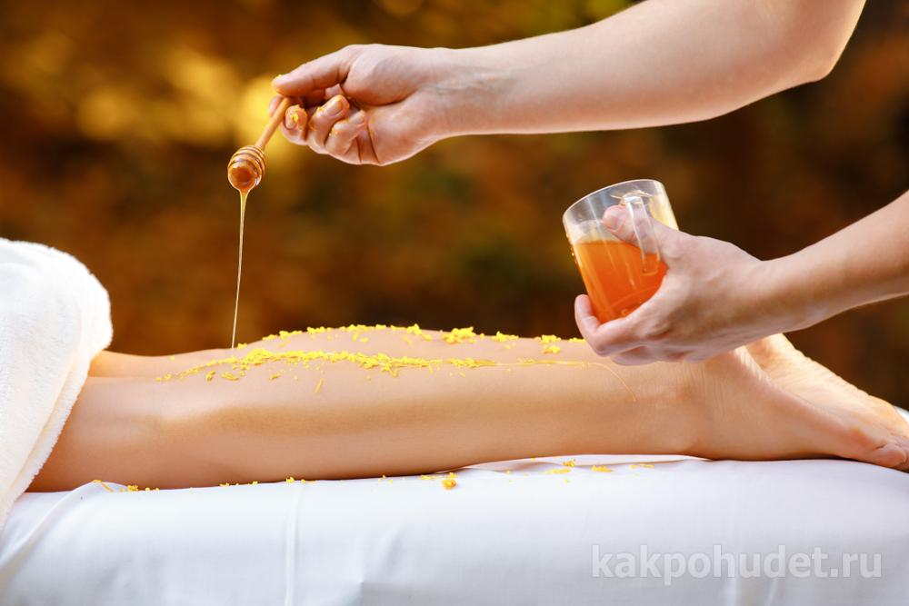 Медовый домашний антицеллюлитный массаж