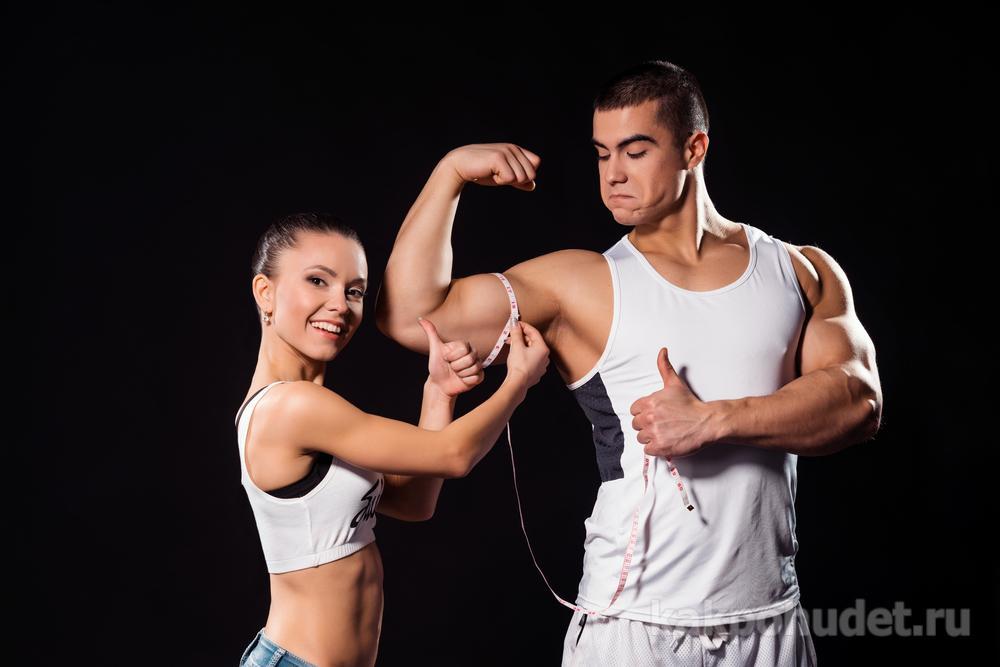 Мышечная масса у женщин растет медленнее, чем у мужчин