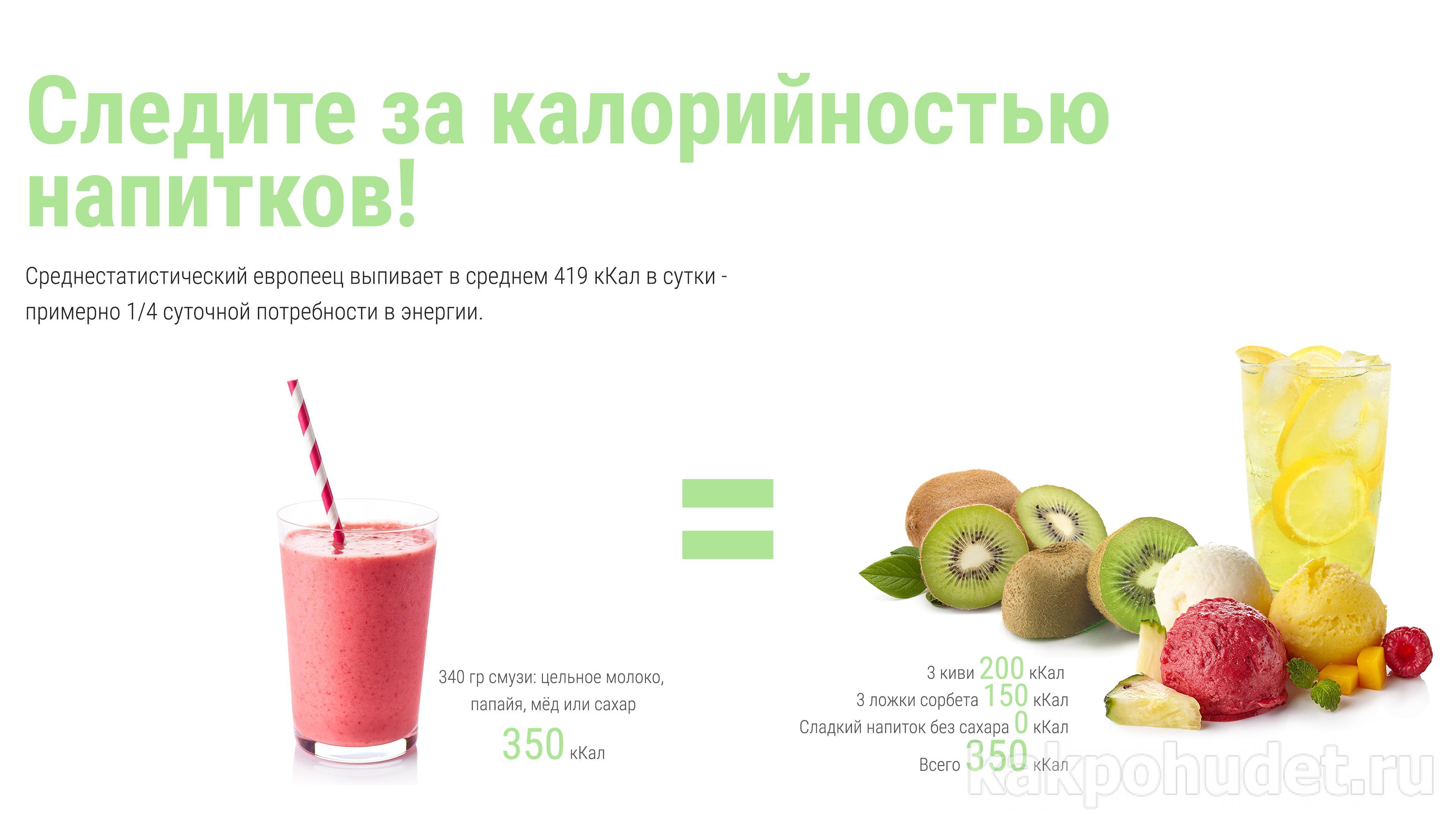 следите за калорийностью