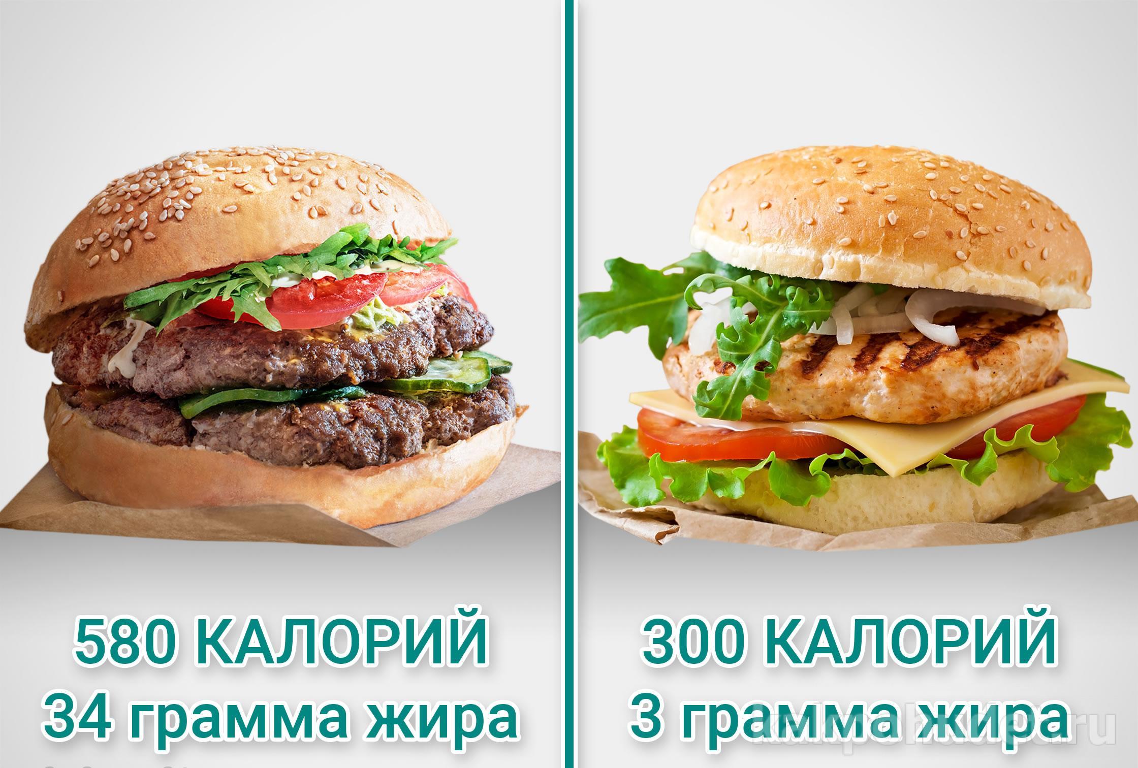 два гамбургера